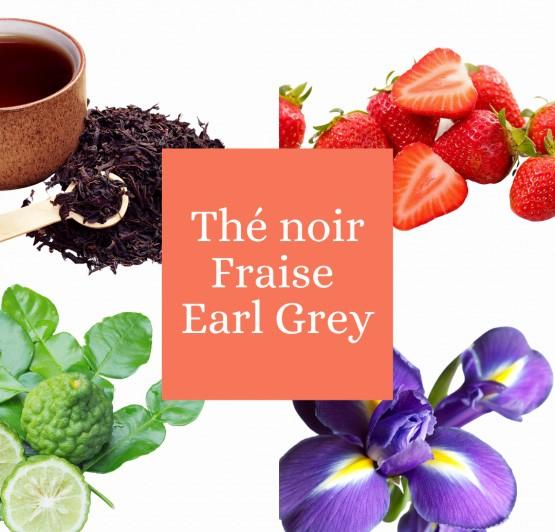 Thé noir Earl Grey fraise Bio