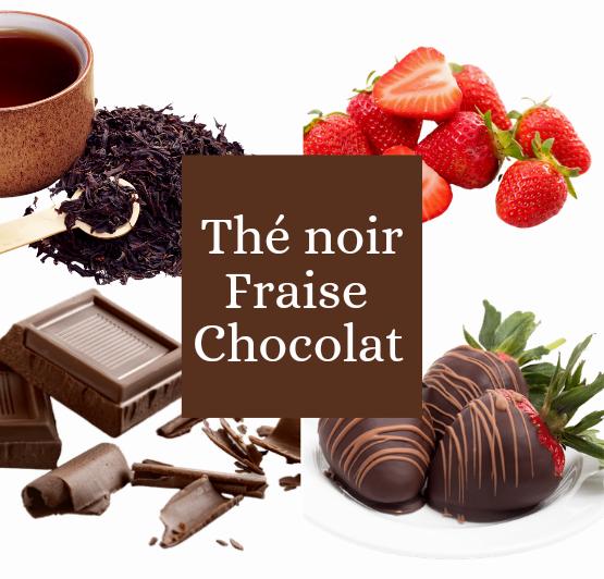 Thé noir fraise chocolat