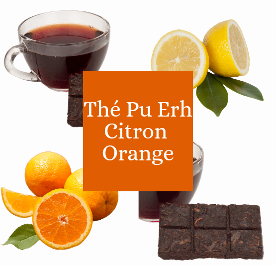Thé Pu erh Citron Orange