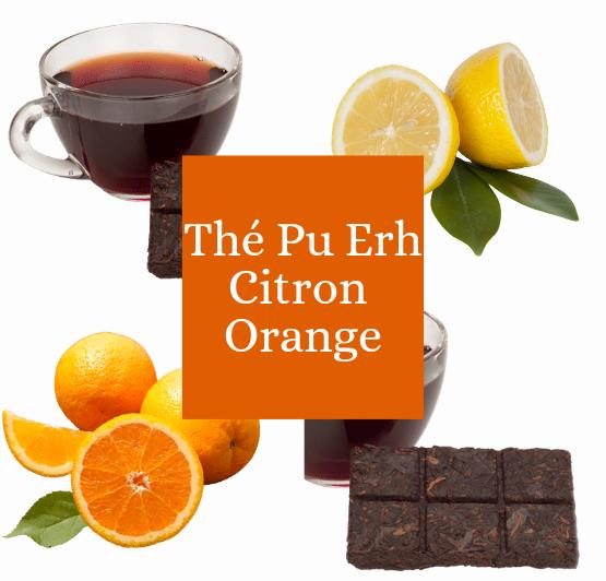 Thé Pu erh Citron Orange