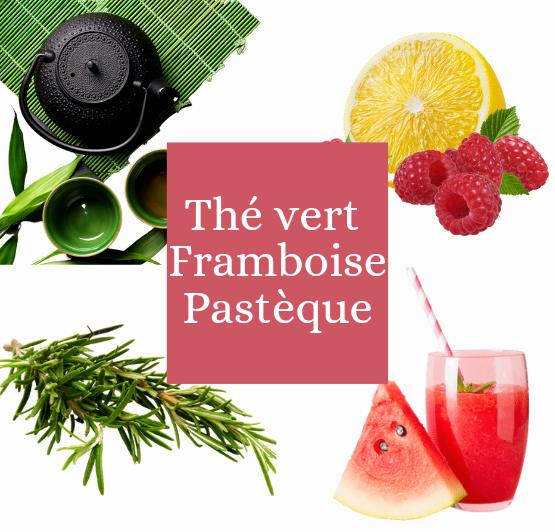 Thé vert Framboise Pasthèque